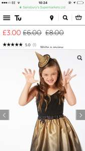 All Tu children's Halloween costumes £3 Instore @ Sainsbury's