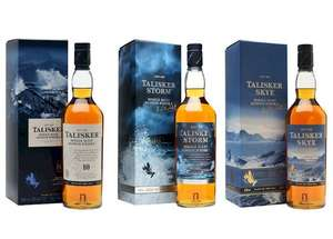 30% discount on Talisker whiskies @ Amazon.  Whisky from - £23.99