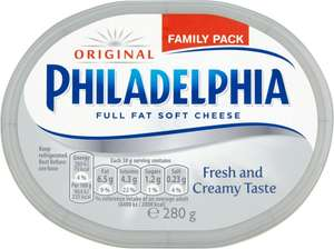 Philadelphia Original (280g) was £2.40 now £1.20 @ Ocado