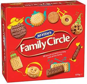 McVities Family Circle (670g) was £4.00 now Buy one get one free @ Ocado