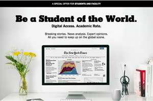Four Weeks Free Student Subscription for The New York Times
