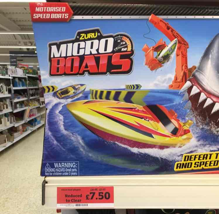 Zuru Micro Boats includes 1 boat £7.50 Sainsburys instore