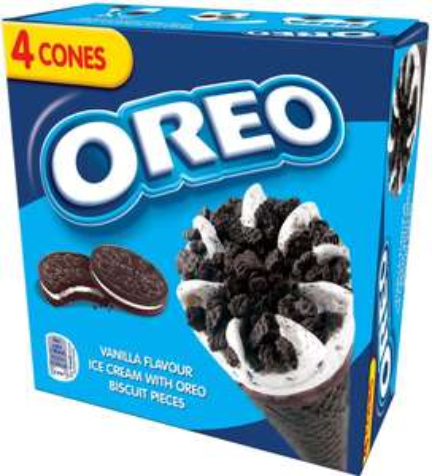 Oreo Vanilla Ice Cream Cones (4 x 100ml) was £2.00 now £1.33 @ Ocado
