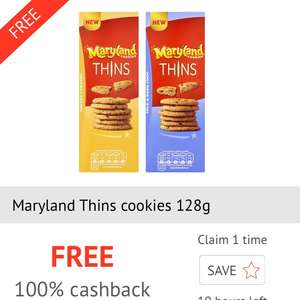 Maryland Thins Free @ Sainsbury's via checkoutsmart