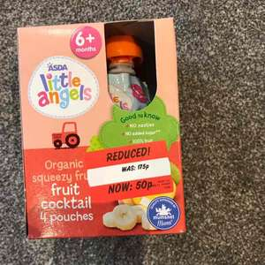 Asda organic baby fruit pouches in date til sept 18 50p instore - Ayr