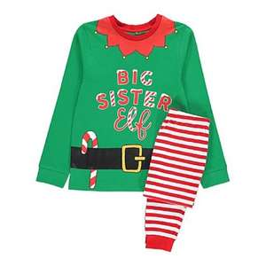 Matching family Elf pyjamas starting from £6.00 @ Asda george