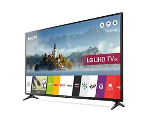 LG 55UJ630V 55 inch 4K Ultra HD HDR Smart LED TV (2017 Model) + 6 year warranty £579 @ Amazon