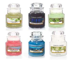 6 x Official Yankee Candle Small Jars Classic Fragrances £21.98 Delivered To Your Front Door @ Groupon