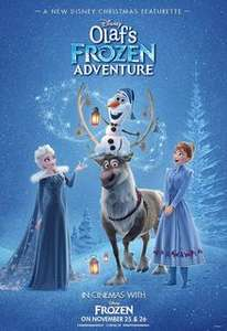 Frozen + Olaf's Frozen Adventure all Tickets £2.50 each + 75p pp booking fee (25th / 26th November) + FREE collectable Olaf Lego toy and a £5 off voucher to redeem at the Lego store @ Odeon