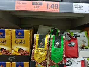 Two varietys of coffee beans @ Lidl £1.49