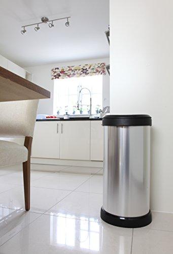 Curver 40 L Metal Effect Plastic One Touch Deco Bin, Silver - AMAZON £16.49 (prime) / £21.24 non prime