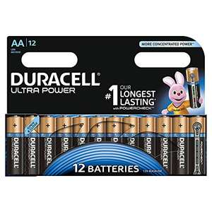 Duracell Ultra Power AA Batteries (12 pack) £6 prime / £9.99 non prime @ Amazon
