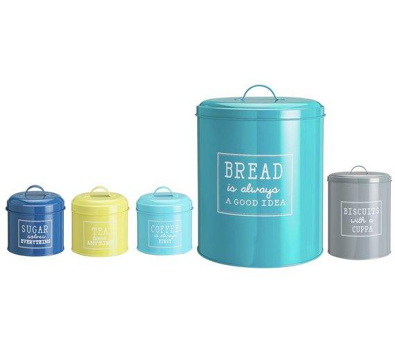Kitchen storage tins half price £10.49  at Argos!