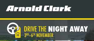 Free hotel stay with test drive at Arnold Clark