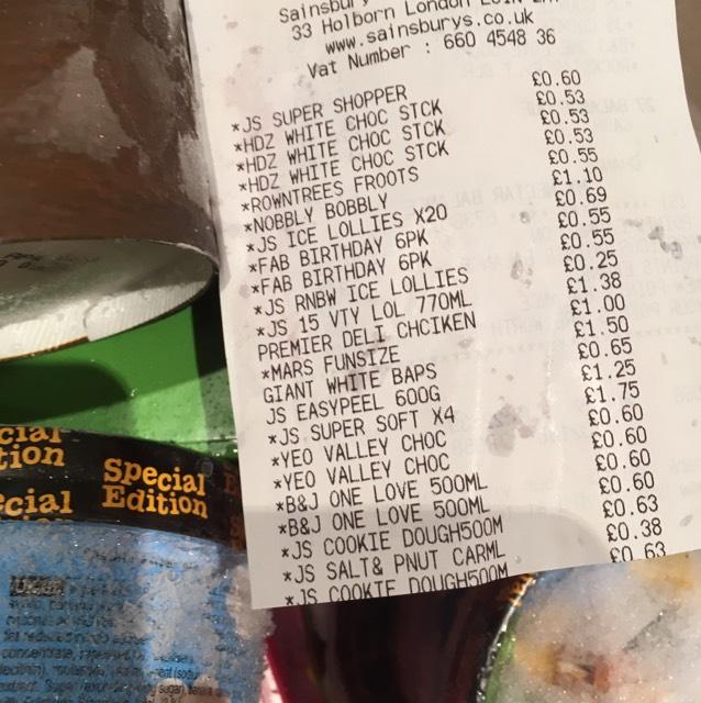 Sainsburys ice cream loads reduced e.g 25p Rainbow ice lollies to 63p - Sainsburys cookie dough