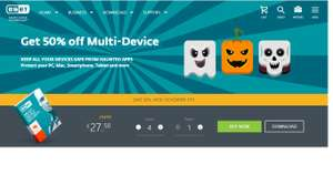 Anitivirus ESET Halloween 50% discount @ eset. £22.49 for 2 users / £27.50 for 4 users.
