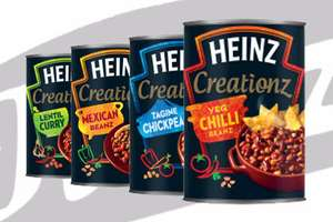 Heinz Creationz (4 varieties) rrp. £1.29 each.  5 for £3. Tesco