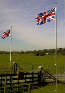 20ft Flagpole Aluminium Flag Pole With 2 Flags - Lets make Britain great again - £29.99 @ clearance_centre_123 ebay