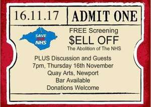 16th november, 2017 - free screening on the isle of wight : NHS anti-abolition movie