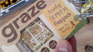 Graze flapjacks and nutpacks - half price, only 60p in Morrison's, Doxford Park, Sunderland.