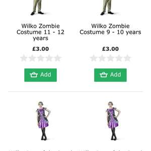Wilko Halloween stock 75% off online and in store e.g Punky Skull Girl Costume £2.50