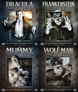 Universal Monster Complete Legacy Blu-Ray Collections £10.99 each at Zavvi