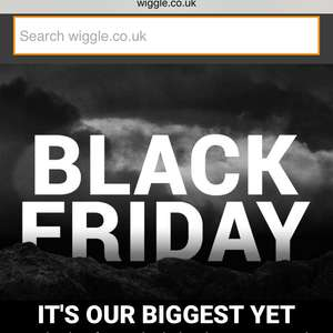 Black Friday deals now live @ Wiggle