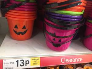 Halloween Items Reduced at Tesco, Starting @ 13p instore