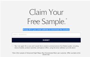 Free Night Experience sample from Estee Lauder