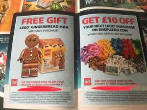 FREE LEGO Gingerbread Man with any order & £10 Off a £60 Spend @ LEGO STORE Online - Info in Post.