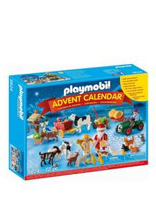 Playmobil 6624 Advent Calendar 'Christmas on the Farm' with Extra Animals now £14.99 / Big City Advent Calendar now £18.75 C+C @ ELC & Mothercare