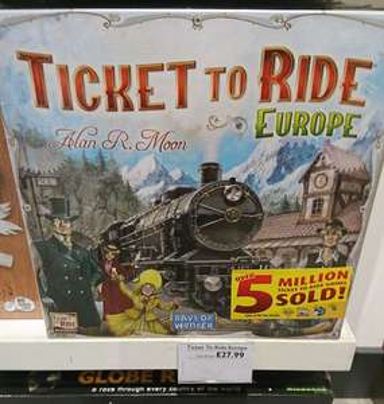 Ticket To Ride: Europe - Cheap - £27.99 in John Lewis