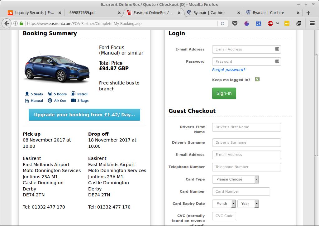 Ryanair  Price promise Car hire