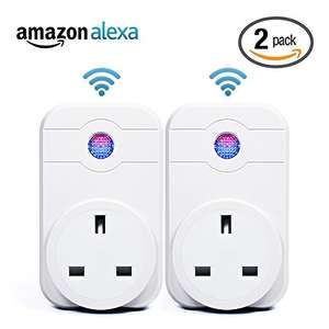2 Pcs Wi-Fi Smart Plug Alexa – Horsky Remote Control Switch Socket Controlling Lights and Appliances by Phone Working with Amazon Echo [Energy Class A+] £26.59 Sold by Horsky Official and Fulfilled by Amazon