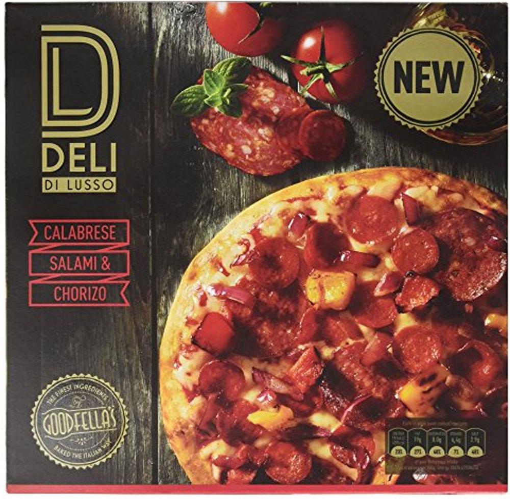 Deli di Lusso Calabrese, Salami & Chorizo Pizza (383g) was £2.50 now £1.50 @ Sainsbury's