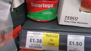 Swarfega original hand cleaner 500g @ Tesco, Batley