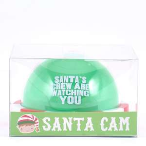 Elf Cam with Flashing Light - Santa's crew is watching you! £1.99 instore @ The Card Factory (+ £2.99 Del online - Free Del wys £20)