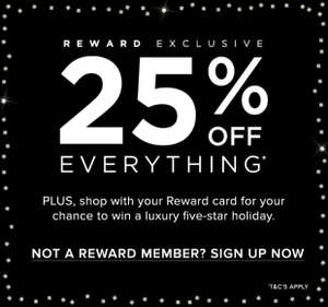 25% off everything at monsoon including sale items with code