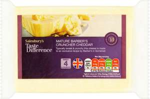 Sainsbury's Mature Barber's Cruncher Cheddar Cheese, Taste the Difference (400g) was £3.50 now £2.50 (£6.25 a Kilo) (Strength 4) @ Sainsbury's
