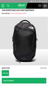 The North Face Hot Shot Backpack 30L £38 @ Millet Sports