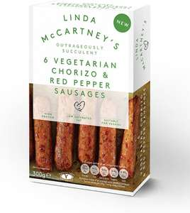 Linda McCartney Vegetarian Chorizo & Red Pepper Sausages (6 = 300g) was £2.00 now £1.50 @ Sainsbury's