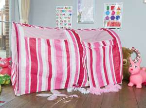 Pink Stripe Bed Tent - Bazoongi £27.99 delivered @ Jumpking