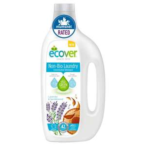 Ecover Non-Bio - 42 washes @Sainsbury's + £3 cashback from Checkoutsmart