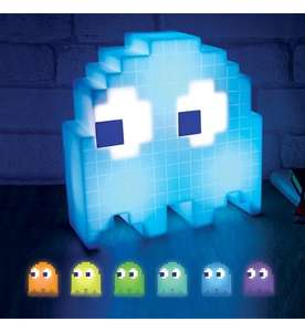 Novelty Lights Reduced incl. Tetris, Rubik's Cube and more  For eg; Pac-Man Colour Changing Ghost Light now £16  @ George Asda (links in post)