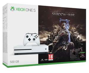 Xbox One S 500GB Shadow of War Bundle (or Rocket League Bundle or Forza Horizon 3 & Hot Wheels Bundle) + Dishonored 2 + Doom + Fallout 4 + Call of Duty: WWII or Fifa 18 or Destiny 2 £199.85 @ ShopTo