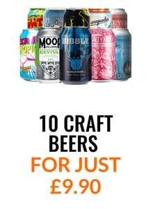 10 CRAFT BEERS 2 TASTING GLASSES AND FREE DELIVERY FOR JUST £9.90 @ Flavourly