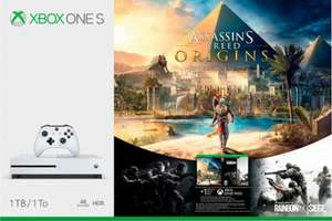 XBox One 1TB Assassians Creed Bundle + COD WW II or Fifa 18 or Destiny 2 + Doom + Fallout 4 +  Dishonoured 2 + Forza Motorsport  7 £239.70 @ ShopTo