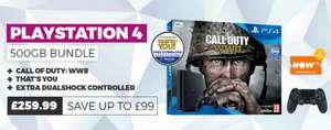 PS4 slim 500gb + Call of Duty WWII + Extra Controller £259.99 GAME