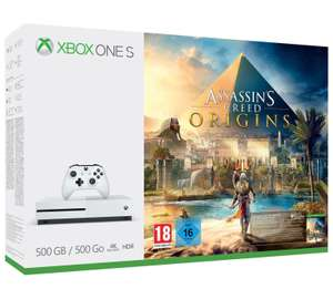 Xbox One S 500GB Assassins Creed Bundle, plus either CoD WWII or Fifa 18 or Forza 7 or Destiny 2 £199.99 @ Argos