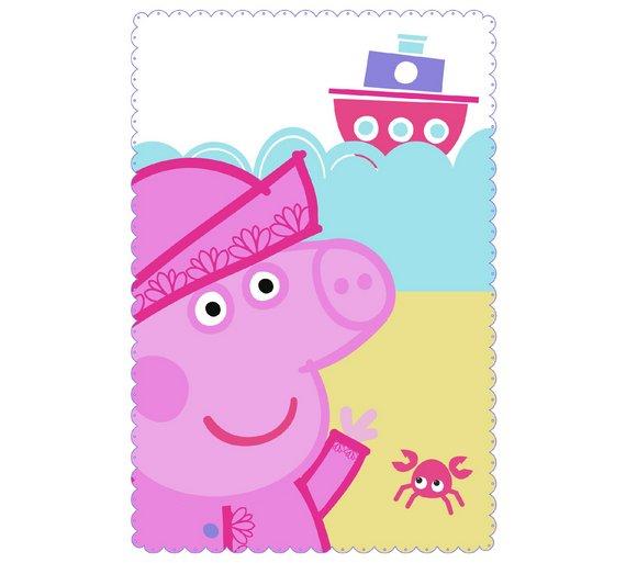 Peppa Pig Nautical Panel Fleece Blanket + FREE Delivery £4.99 @ Argos